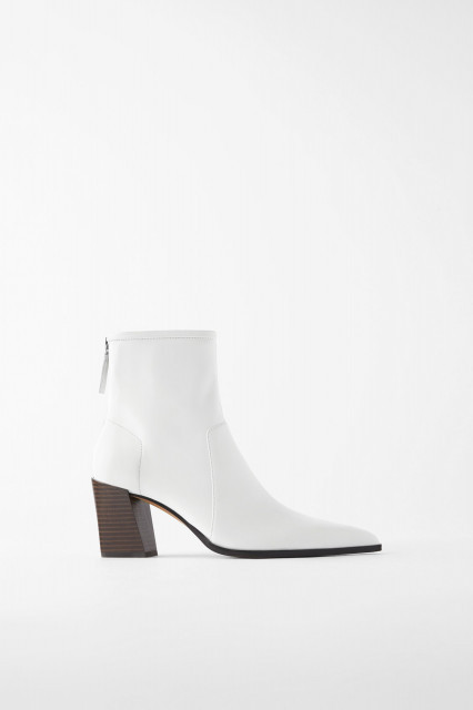Poze Zara White Soft Leather
