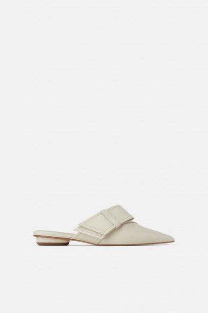 Zara WhiteMulesShoes