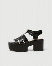 Pull&Bear Nero Platform Sandals