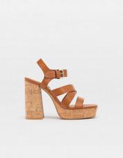 Stradivarius Maron Platform Sandals
