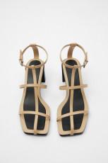 Zara LeatherT-BarSandals