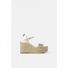Zara Platform Braided Yute Sandals