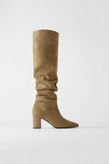 Zara Split Leather Mid Height Boots