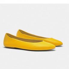 Zara YellowFlatBallerinas