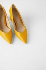 Zara YellowSquareHeel