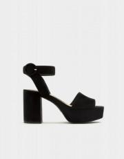 Pull&Bear High Heel Suede Sandals
