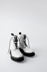 Zara Bike White Boots