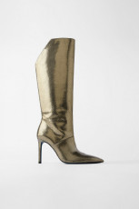 Zara LeatherMetallicBoots