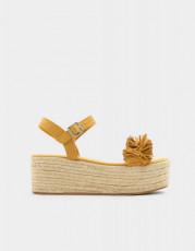 Pull&Bear Yute Yellow Sandals