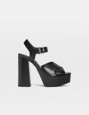 Stradivarius Dark Platform Sandals