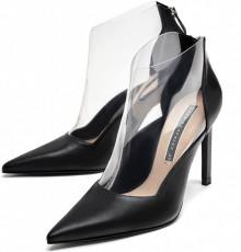 Zara black Vinyl Heel