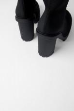 Zara FabricPlatformAnkleBoots