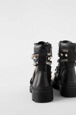 Zara Flat Leather Ankle Chain