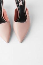 Zara PinkMulesHeel