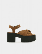 Pull&Bear Bow Platform Sandals
