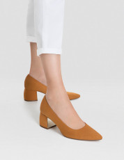 Stradivarius Suede Maron Shoes