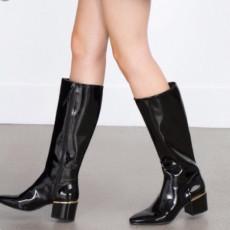 Zara BlackShineBoots