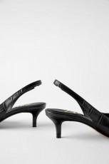 Zara CrocSlingBackShoes