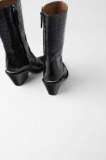 Zara LeatherPrintBoots