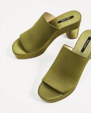 Zara Platform Saten Sandals