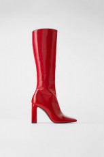 Zara Red Patent Finish