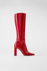 Zara Red Patent Finish
