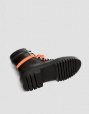 Pull&Bear OrangeLaceBoots