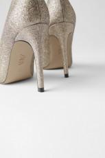 Zara GlitterHeelShoes
