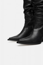 Zara Leather Snake Cowboy