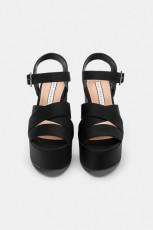Zara Saten Platform Sandals