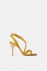 Zara Satin Heeled Sandals