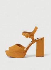 Pull&Bear Mustard Platform Sandals
