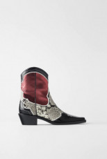 Zara ColourPrintedCowboyBoots