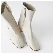 Zara Ecru Soft Leather