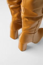Zara Leather High Boots