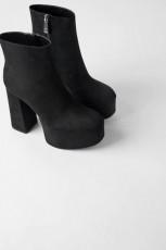 Zara Platform Heels Botin