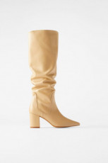 Zara Pointed Creamy Boots