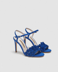 Zara BlueFlowerSandals
