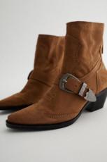 Zara CowboyBrownAnkleBoots