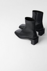 Zara Leather Square Toes