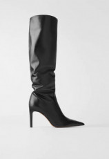 Zara Leather Stilleto Boots