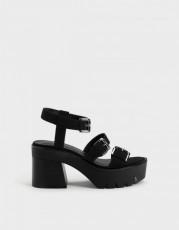 Bershka Sandals Tacon Laminado