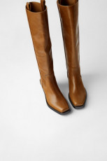 Zara Cowboy Boots with Square Toes
