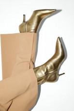 Zara Gold Heel Botin