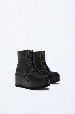 Zara LeatherPlatformAnkleBoots