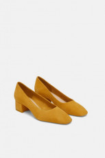 Zara SuedeLeatherYellowShoes