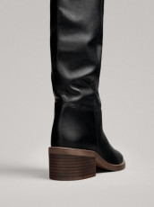 Massimo Dutti Boots Tall Black
