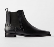 Zara Flat Leather Boots