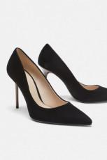 Zara Leather Court Fine Heel
