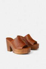 Zara WoodPlatformSandals